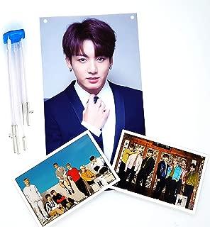 BigHit Entertainment BTS Bangtan Boys - X Banner(JUNGKOOK Photo) + Stand Photos(4 x 6 inches) 3pcs (JUNGKOOK)