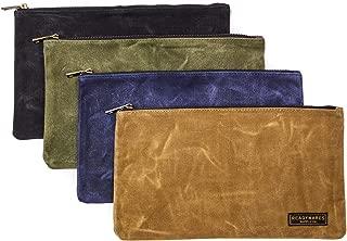 Readywares Waxed Canvas Zipper Tool Bags 4-Pack