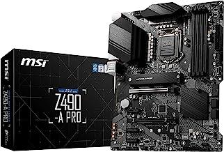 MSI Pro Intel Z490 LGA 1200 ATX DDR4-SDRAM Motherboard