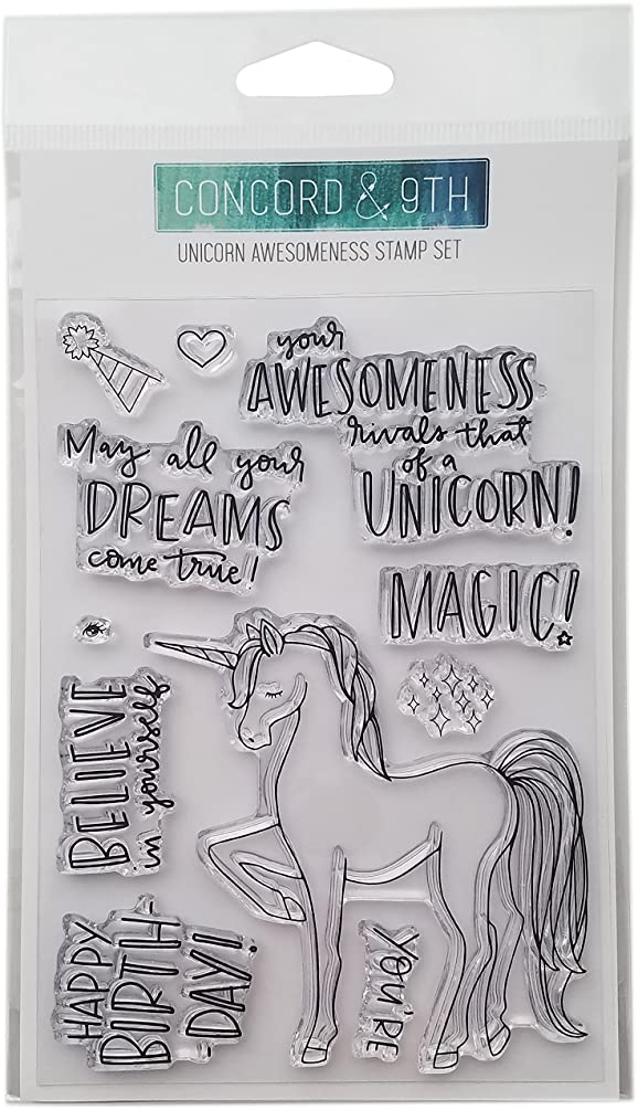 Concord & 9th Unicorn Awesomeness Clear Stamps, 4