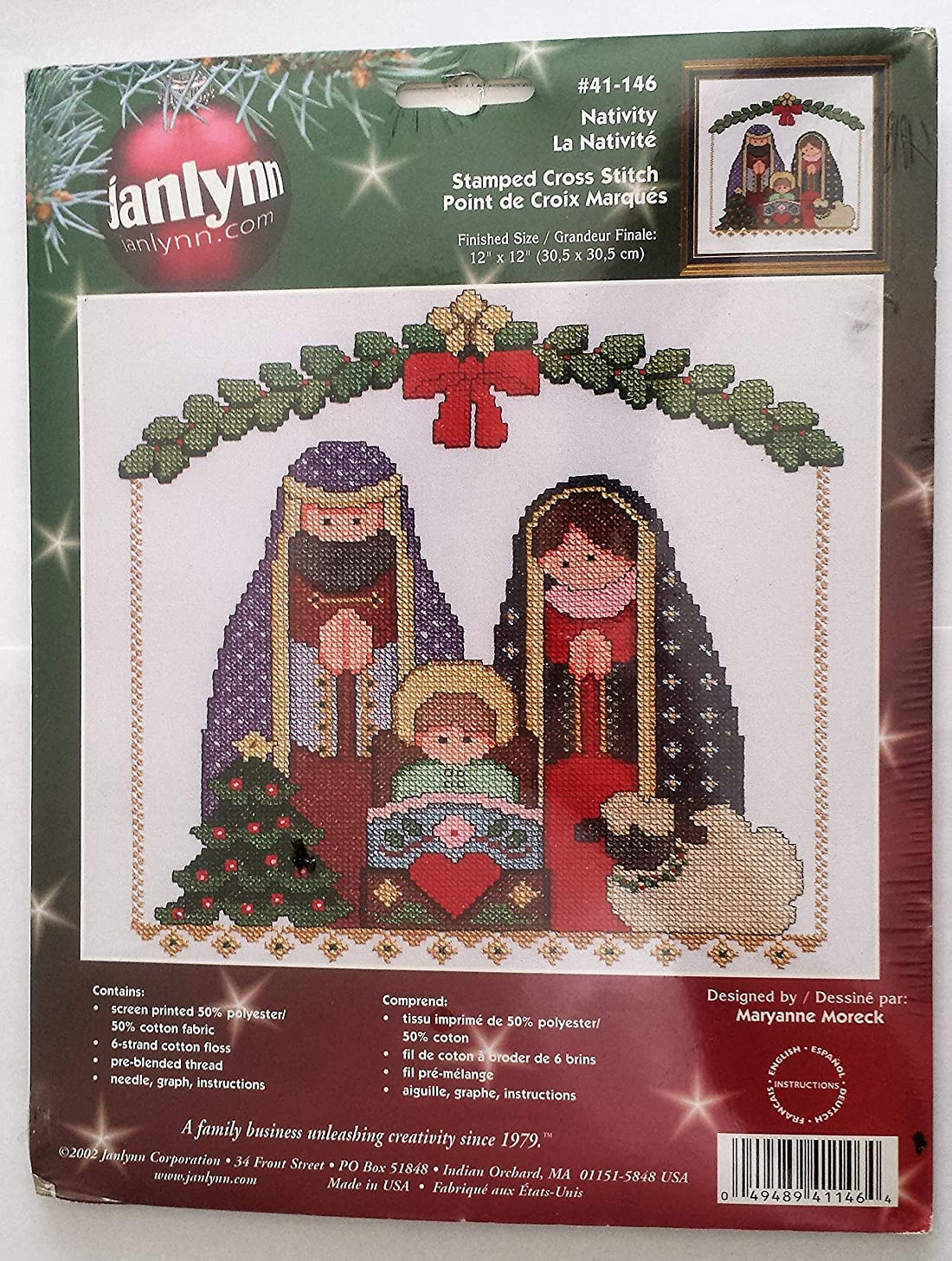 Janlynn #41-146 Nativity Stamped Cross Stitch 12
