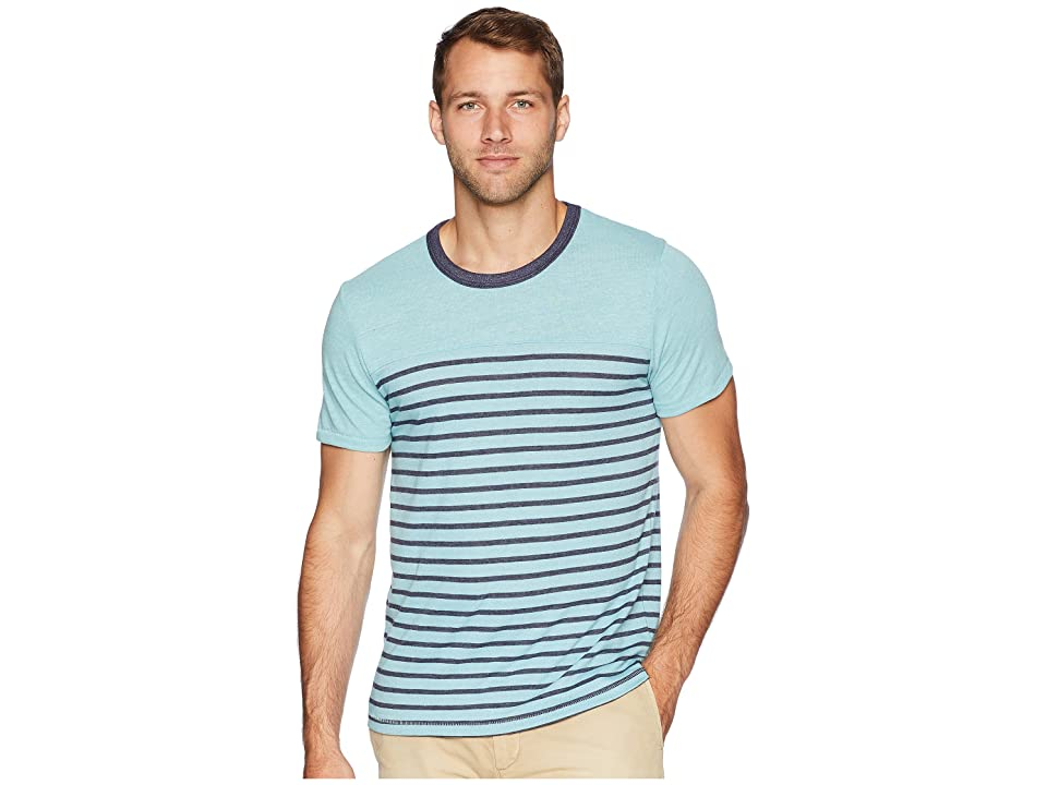 Alternative Eco Jersey First Mate Tee (Sea Breeze Overdye Riviera Stripe) Men