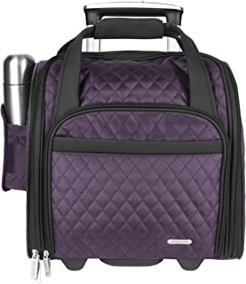 Travelon Wheeled Underseat Carry-On with Back-Up Bag, Eggplant (Purple) - 6454 1