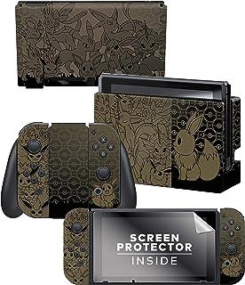 Controller Gear Nintendo Switch Skin & Screen Protector Set - Pokemon - Eevee Evolutions Set 1 - Nintendo Switch