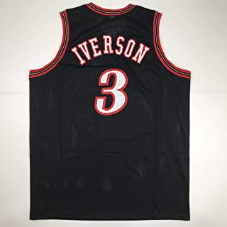 Unsigned Allen Iverson Philadelphia Black Custom Stitched Basketball Jersey Size Men's XL New No Brands/Logos