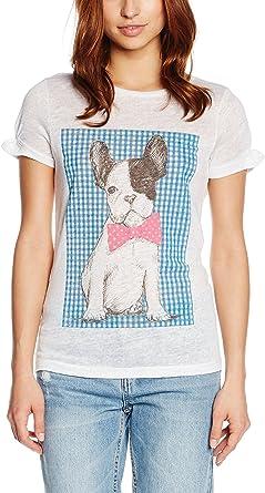 Dolores Promesas Tula SENTADA con Cuadro Vichy Camiseta para Mujer
