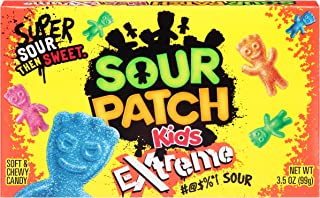 Sour Patch Kids Extreme Soft & Chewy Gummy Candy - Movie Theater Box, 3.5 Ounce (Pack of 12)