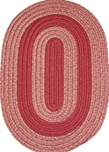 product image for Constitution Rugs Veranda Patio 5' x 8' Oval Braided Rug in Brick & Tan Tweed