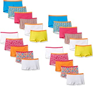 Girls' Big Cotton Underwear, Assorted Multipacks (Packs of 22 & 24)