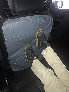 豪华踢脚垫座椅靠背?;ぬ祝? 个装)- 双面(双色黑色-灰色)- PU 皮革。 黑色 - 灰色 43305-8126