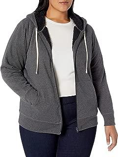 Women's Plus Size Sherpa-Lined Full-Zip Hoodie