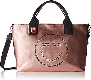 Pinko In The Mood Shopping Canvas Cerato 女式手提包,粉色(玫瑰色),18x30x40 cm (寬 x 高)