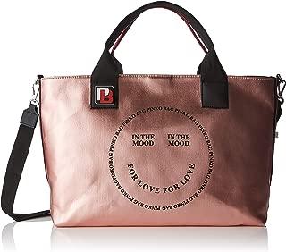 Pinko In The Mood Shopping Canvas Cerato 女式手提包,粉色(玫瑰色),18x30x40 cm (宽 x 高)