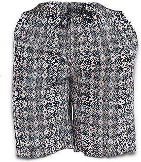 Tommy Bahama Men's Printed Geo Woven Pajama Shorts (Large) Blue Geo