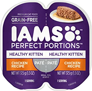 IAMS Perfect Portions Healthy Kitten Grain Free Wet Cat Food (24 Twin Packs)