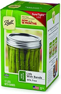 Ball Jars Wide Mouth Lids & Bands, 12 Lids and Bands