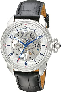 Lucien Piccard Men's LP-40052M-02S Trevi Analog Display Mechanical Hand Wind Black Watch