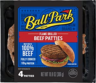 Ball Park Flame Grilled Beef Patties, 4 Count