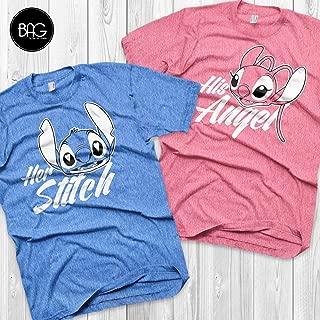 Disney Couple Shirts Stitch and Angel Lilo and stitch Matching Shirts Stitch and Angel shirts Vacation Shirts