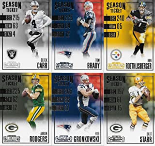 2016 Contenders Football Series Basic 100 Card Veteran Players Set with Tom Brady, Aaron Rodgers, Ben Roethlisberger, Bart Starr and Many Other Stars