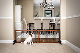 Carlson 68-Inch Wide Adjustable Freestanding Pet Gate, Premium Wood