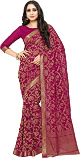 KUPINDA Kanjivaram Style Chiffon Saree Color: Purple (4186-2174-SD-WINE)