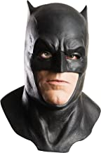 Dawn of Justice Batman Foam Latex Mask with Cowl, Black, One Size