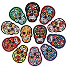 Embroidered Day of the Dead Sugar Skull Mujer Lady Patch 6.50\u201d x 4.25\u201d Back Patch by Twistedstitcher 2018 Located in Abbotsford BC Canada