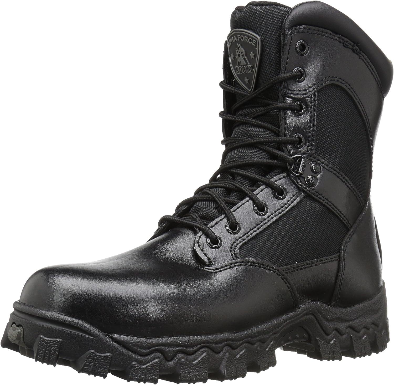 Rocky Alphaforce Zipper In a popularity Composite Duty Omaha Mall Boot Toe