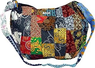 GURU SHOP Patchworktasche Bali, Herren/Damen, Mehrfarbig, Baumwolle, Size:One Size, 35x40x7 cm, Alternative Umhängetasche,...