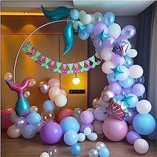CozofLuv 121Pcs Balloons for Birthday Party, Mermaid Birthday, Mermaid Party for Girls Birthday, Ocean Theme Birthday Part...