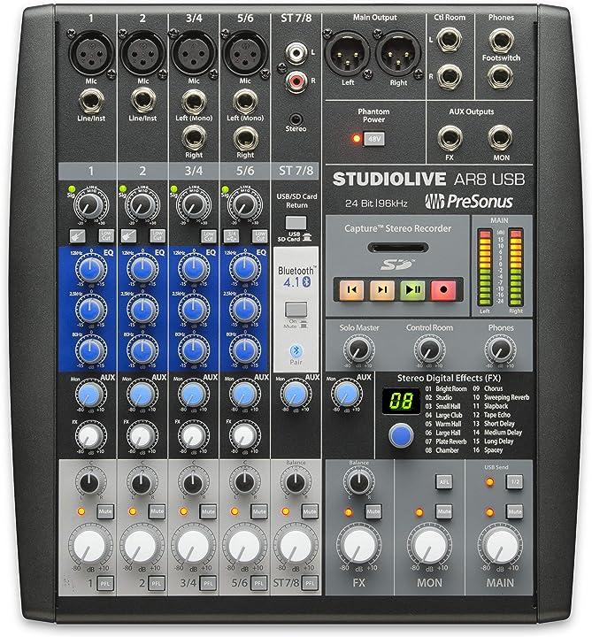 Studiolive ar 8 usb 8-kanal hybrid mixer presonus SLMAR8