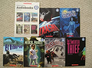System 44 Library Audiobooks and Paperbacks 19-24 (Crash, Back From the Grave, El Tiburon, Medical Miracle, Disaster, Sweater Thief)