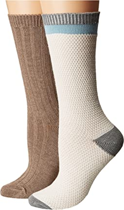 Steve Madden - 2-Pack Boot Sock Popcorn Stitch