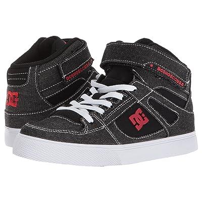 DC Kids Pure High-Top TX SE EV (Little Kid/Big Kid) (Black/Red/White) Boys Shoes