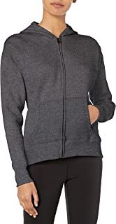 Hanes Women's Full-Zip Hooded Jacket, Slate Heather, Medium