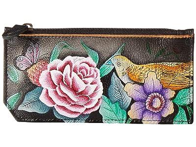 Anuschka Handbags RFID Blocking Card Case With Coin Pouch 1140 (Vintage Bouquet) Handbags