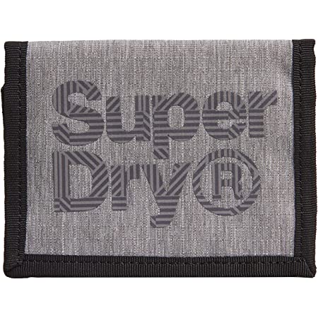 Superdry Velcro Logo Wallet - Grauer Mergel