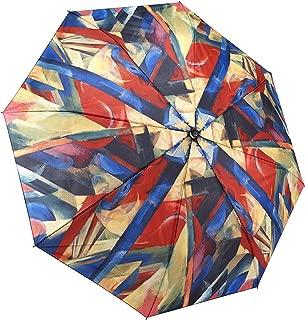 Galleria Franz Marc Stables Auto-Open/Close Large Portable Rain Folding Umbrella