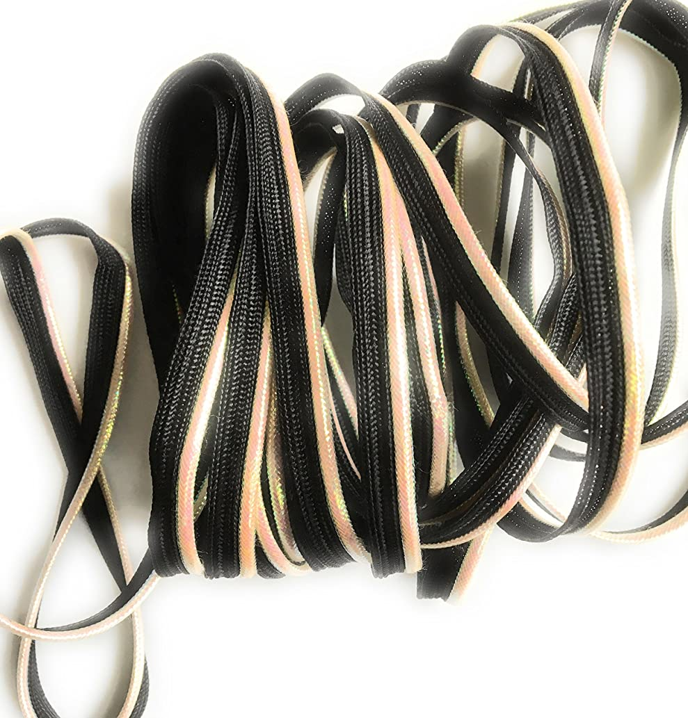 Iridescent on Black Cord-edge Piping ,Trim , LIP Cord for Clothing Pillows, Lamps, Draperies 5 Yards Pi-173