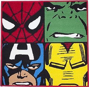 Marvel Alfombra con Forma de Character World Disney Comics Defenders.