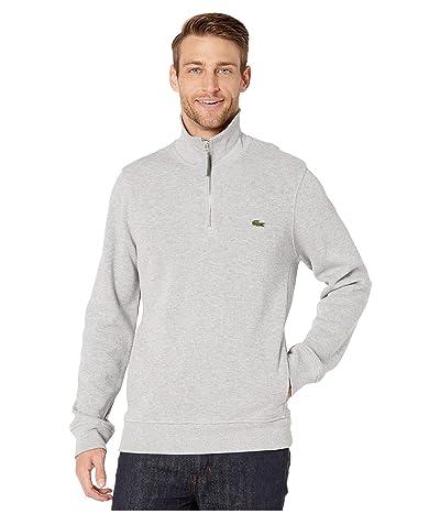 Lacoste Interlock Solid 1/4 Zip Sweater Classic (Silver Chine) Men