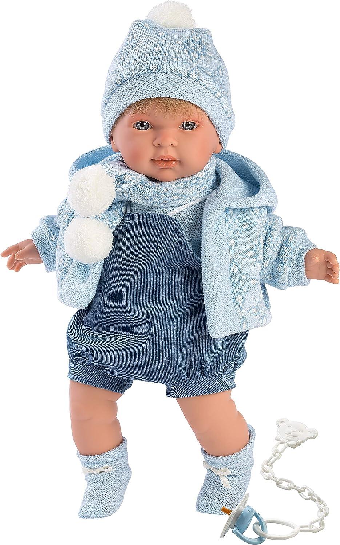Llorens 42149 Llorens 42149 Crying Miguel Doll 42 cm a Boy Beige