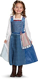 Disguise Belle Village Dress Deluxe Movie Costume, Multicolor, Medium (3T-4T)