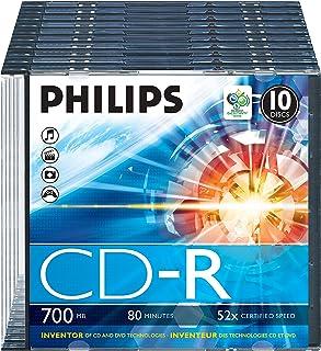 Philips CDR-80 (52x) 10pk Slim Jewel Case