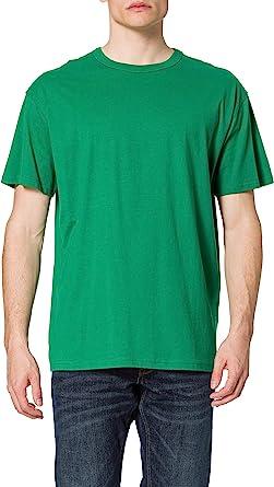 URBAN CLASSICS Men's Oversized Tee Shirt, Long Oversized T-Shirt with Round Neckline & Dropped Shoulders, Men's Basic Plain T-Shirt, 100% Cotton Tall Tee, Sizes: S-5XL