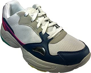 A via Women's Aviator Performance Athletic Shoe with Memory Foam Insole (7.5, Multi)