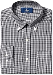 Amazon Brand - BUTTONED DOWN Men's Classic Fit Gingham Non-Iron Dress Shirt