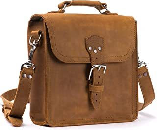 Saddleback Leather Co. Indiana Messenger Gear Bag Full Grain Leather Slim Satchel for Men Includes 100 Year Warranty
