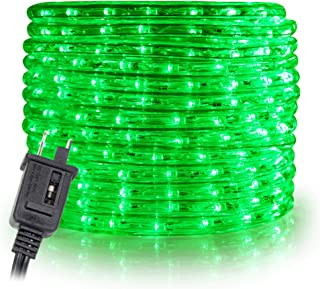 WYZworks 100' feet Green LED Rope Lights - Flexible 2 Wire Accent Holiday Christmas Party Decoration Lighting   UL Certified